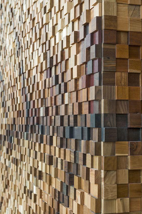 Фото 9 - Украшение стен деревянными панелями 3-D мозаикой, изголовье.