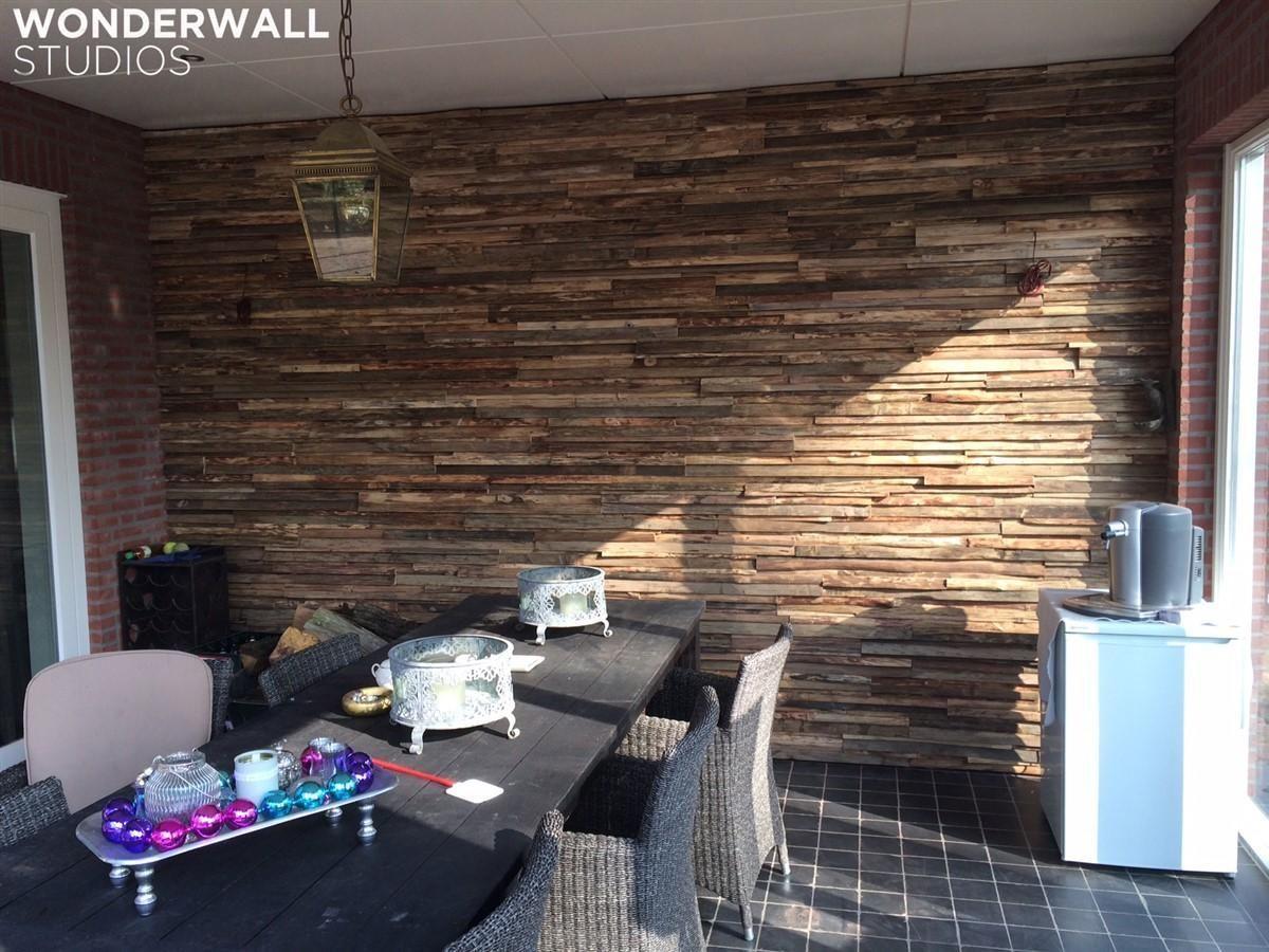 Фото 8 - Украшение стен деревянными панелями 3-D мозаикой, изголовье.