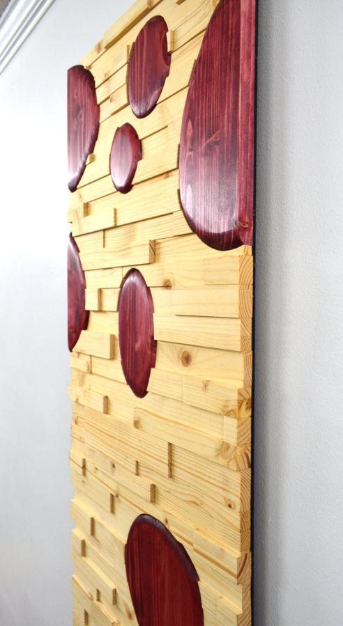 Фото 5 - Дизайн интерьеров в дереве, 3-D мозаика, деревянные панно.