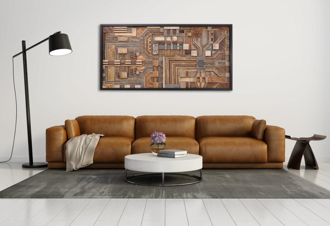 Фото 9 - Дизайн интерьеров в дереве, 3-D мозаика, деревянные панно.