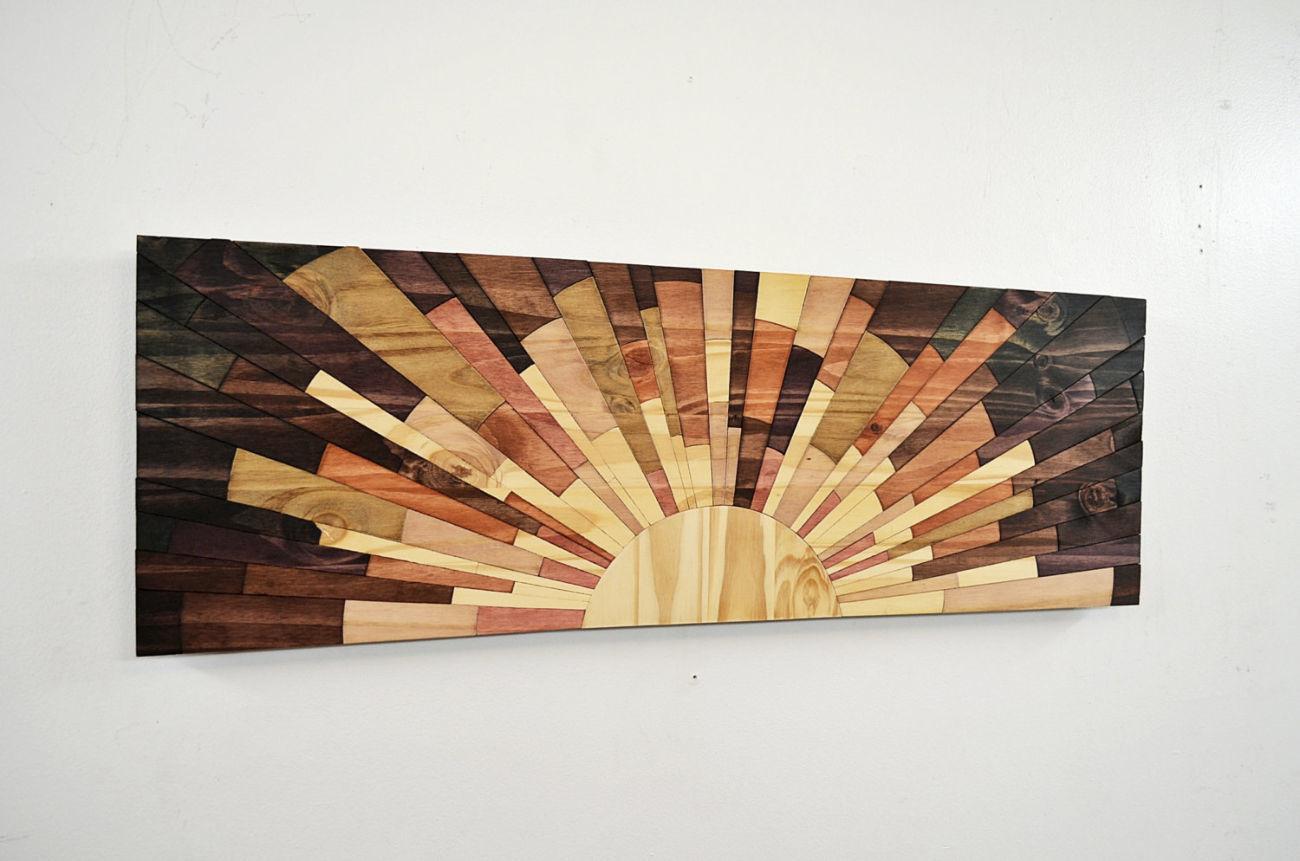 Фото 3 - Дизайн интерьеров в дереве, 3-D мозаика, деревянные панно.