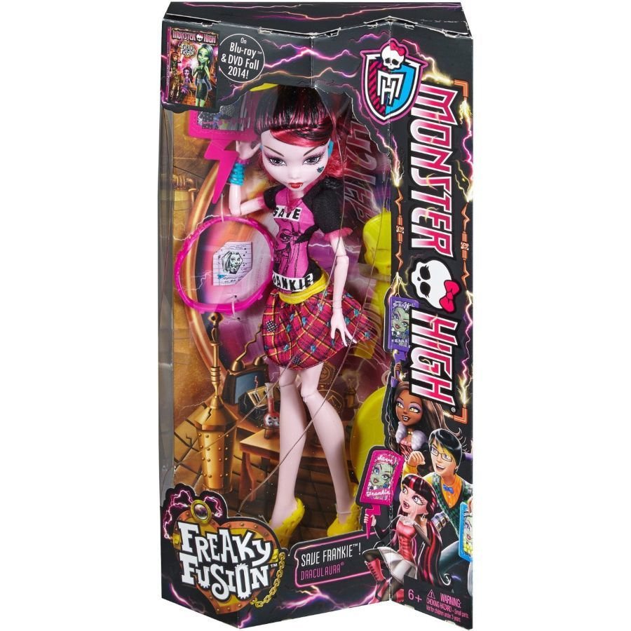 Фото 2 - Monster High freaky fusion save Frankie Draculaura