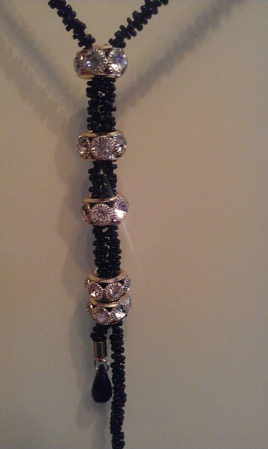 Фото 9 - Бусы с подвесками. Длинные. Биссерные. Ожерелье. Украшение на шею.