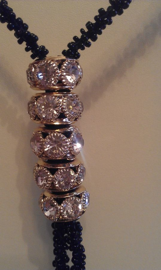 Фото 2 - Бусы с подвесками. Длинные. Биссерные. Ожерелье. Украшение на шею.