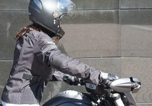 Фото 5 - Женская текстильная мотокуртка OJ UNSTOPPABLE Black (J094)