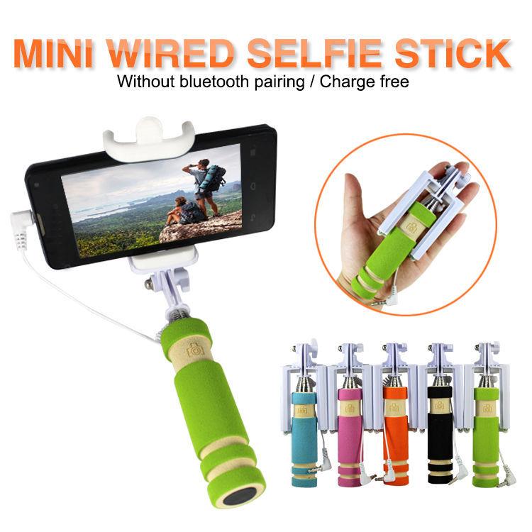 Фото 7 - Селфи палка 5 Цветов selfie stick mini монопод для телефонов iphone