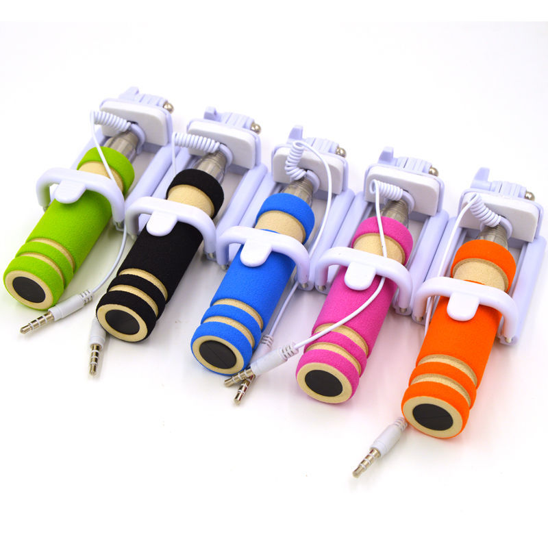Фото 5 - Селфи палка 5 Цветов selfie stick mini монопод для телефонов iphone