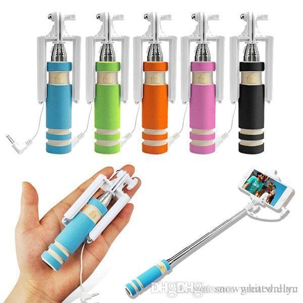 Фото 6 - Селфи палка 5 Цветов selfie stick mini монопод для телефонов iphone