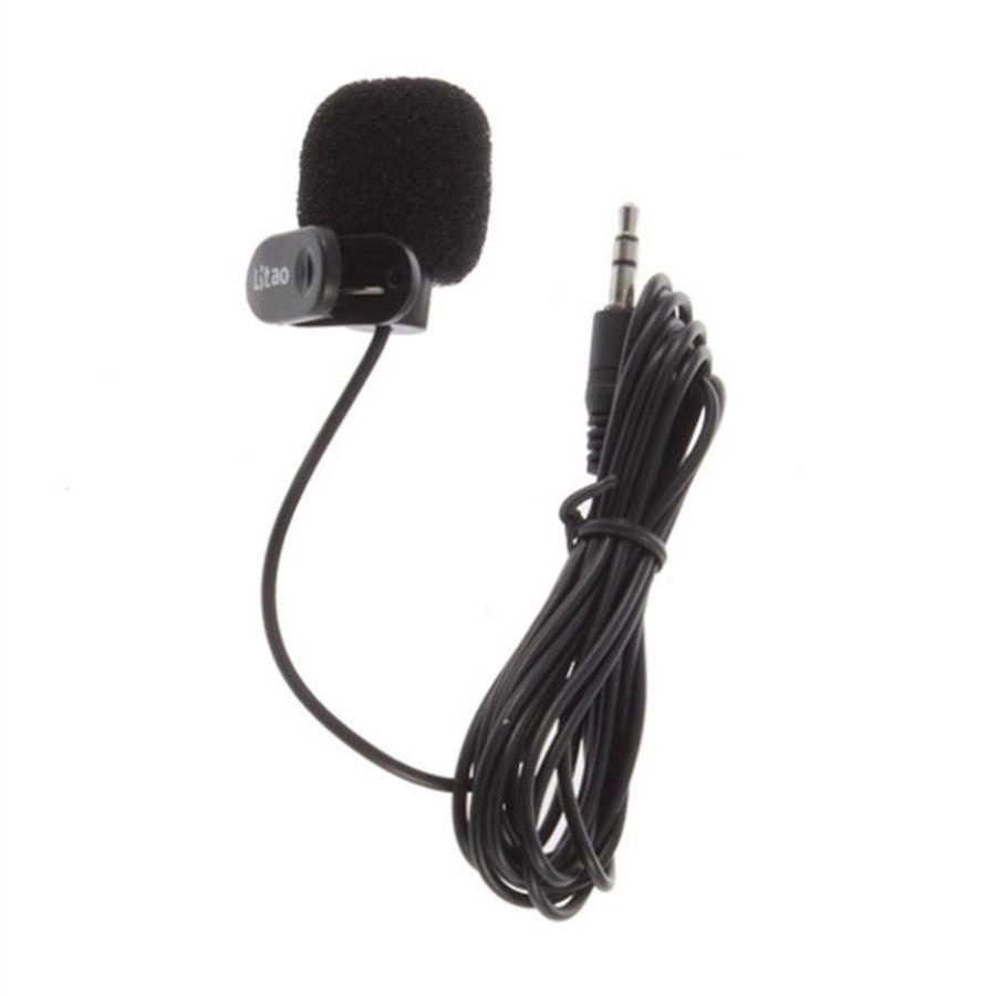 Фото - Портативный микрофон клипса 3,5 мм стерео