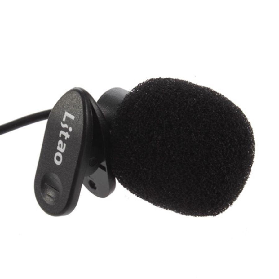 Фото 2 - Портативный микрофон клипса 3,5 мм стерео