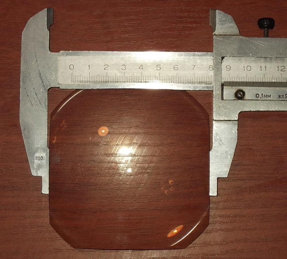 Фото 2 - Линза плоско выпуклая равносторонняя