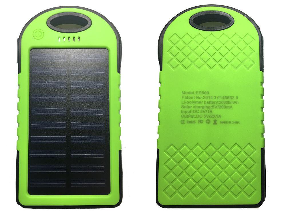 Фото 4 - Power Bank 20000 Solar 2 USB Led солнечная батарея повар банк павер