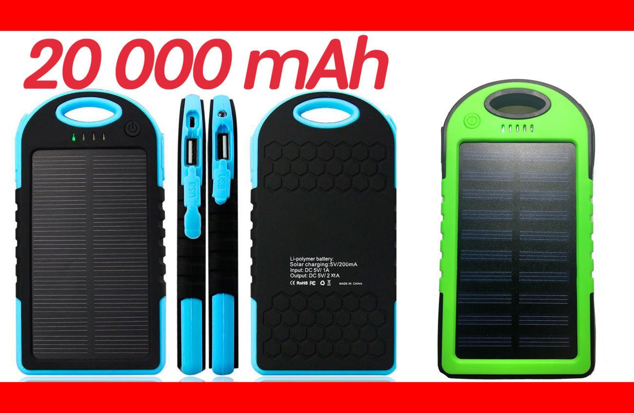 Фото - Power Bank 20000 Solar 2 USB Led солнечная батарея повар банк павер