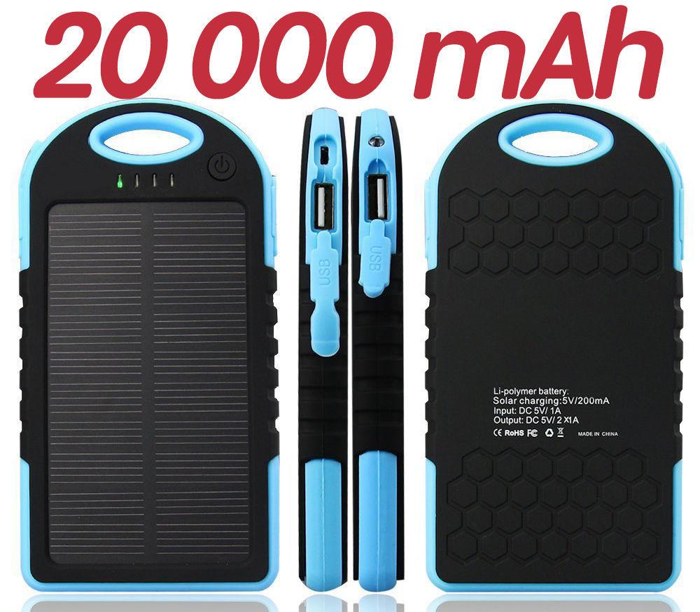 Фото 5 - Power Bank 20000 Solar 2 USB Led солнечная батарея повар банк павер