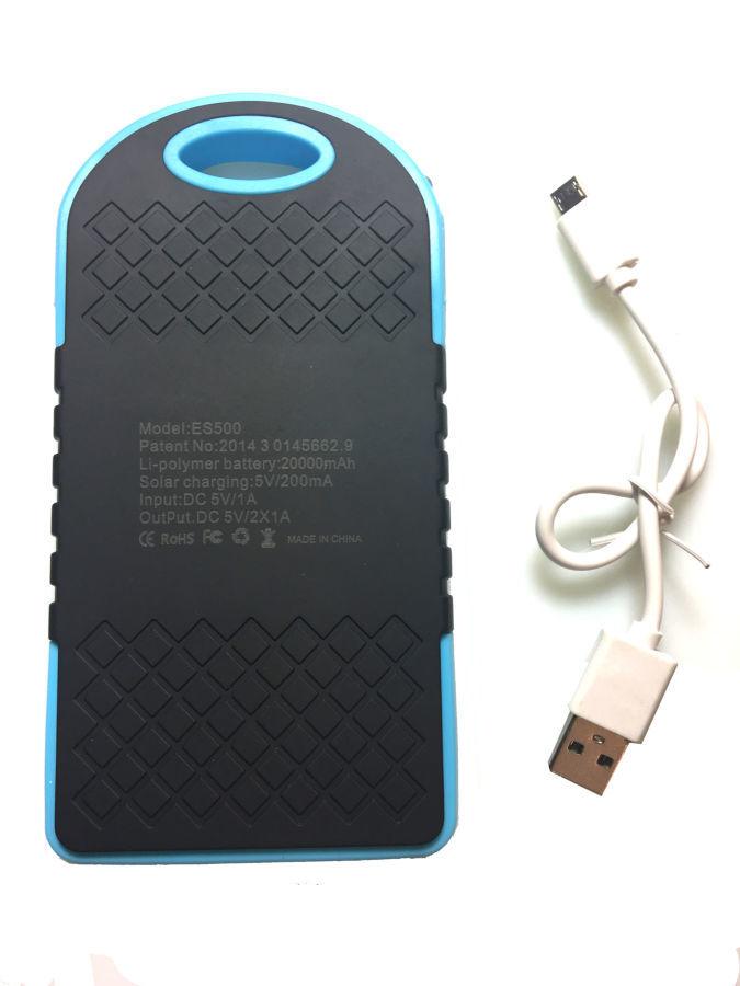 Фото 9 - Power Bank 20000 Solar 2 USB Led солнечная батарея повар банк павер