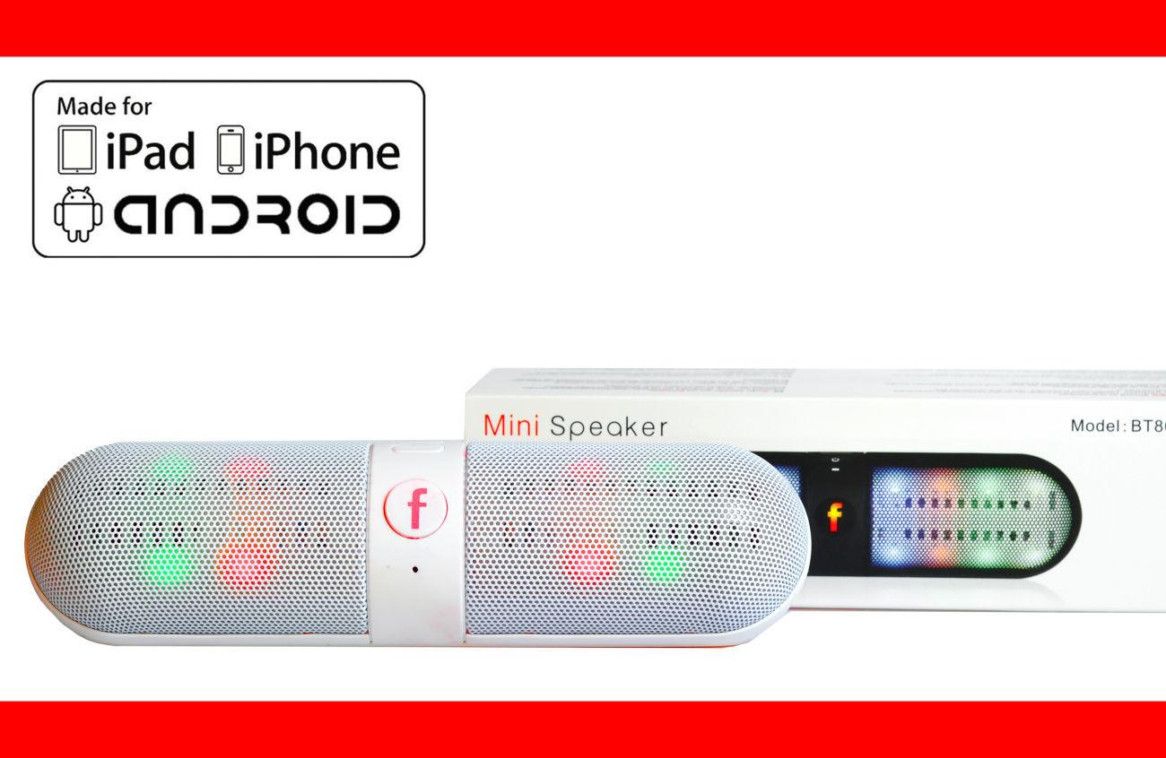 Фото 2 - Колонка с подсветкой Блютуз usb microSD Радио портативная качественная