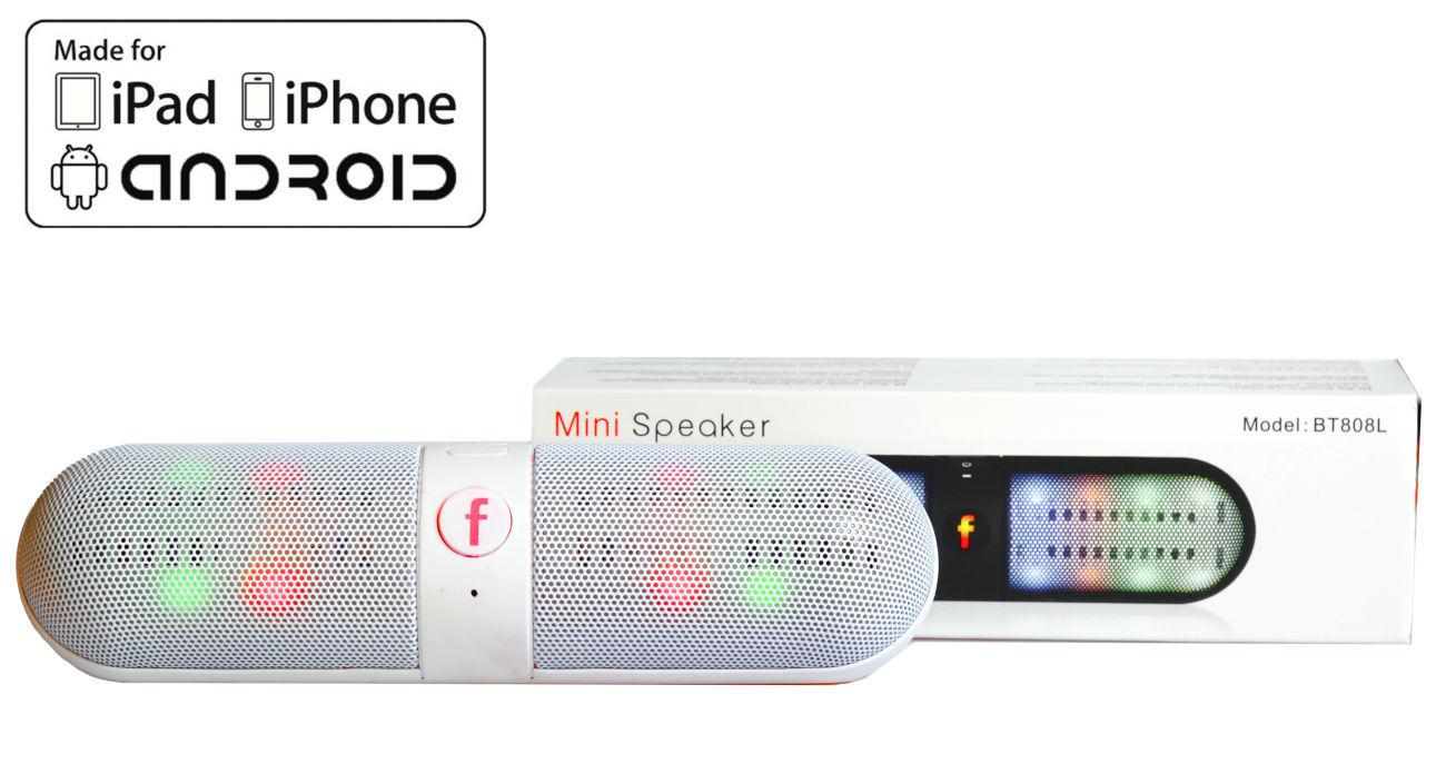 Фото 4 - Колонка с подсветкой Блютуз usb microSD Радио портативная качественная
