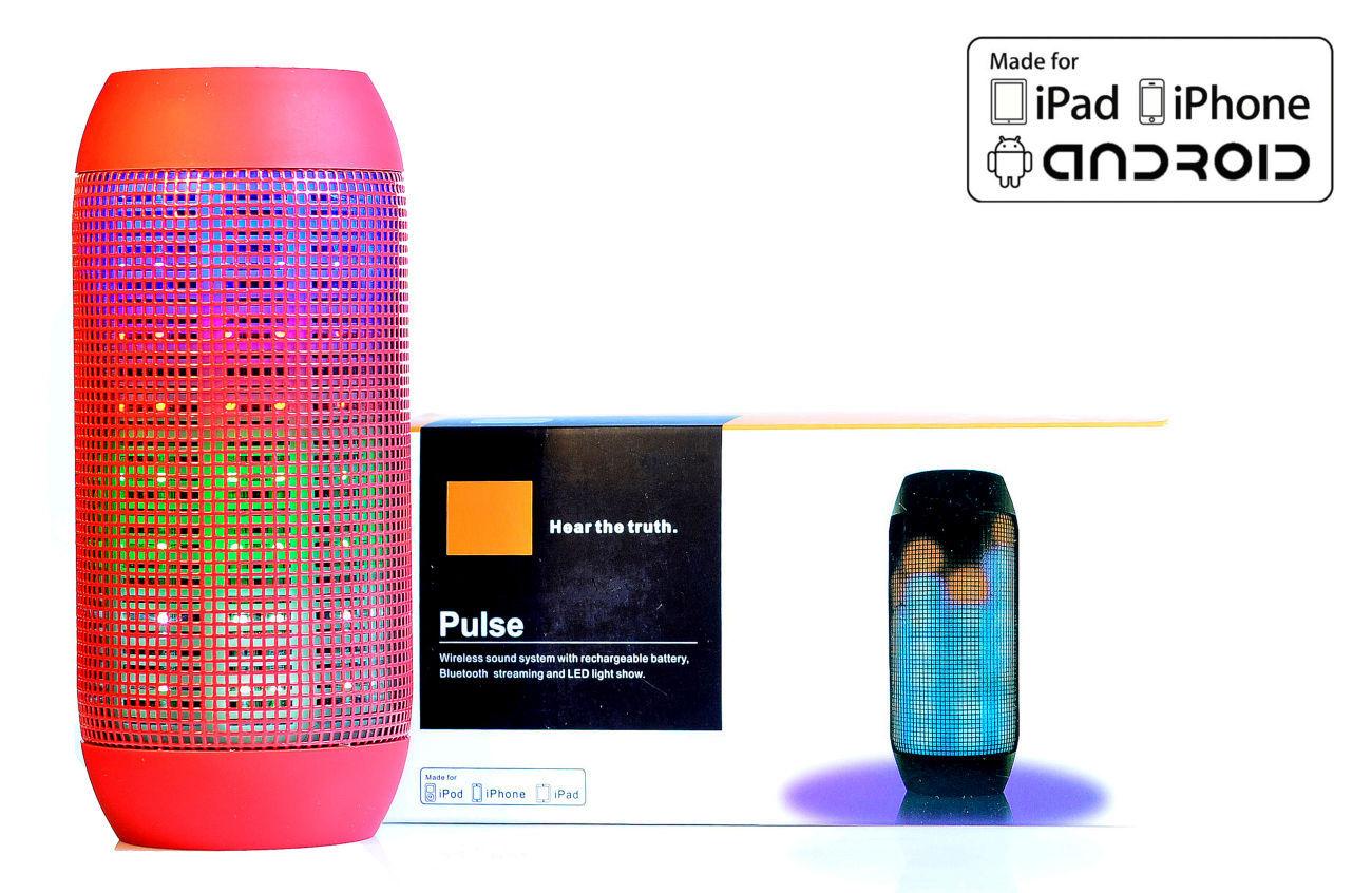 Фото - Портативная колонка JBL Pulse Красная аналог,беспроводная Bluetooth