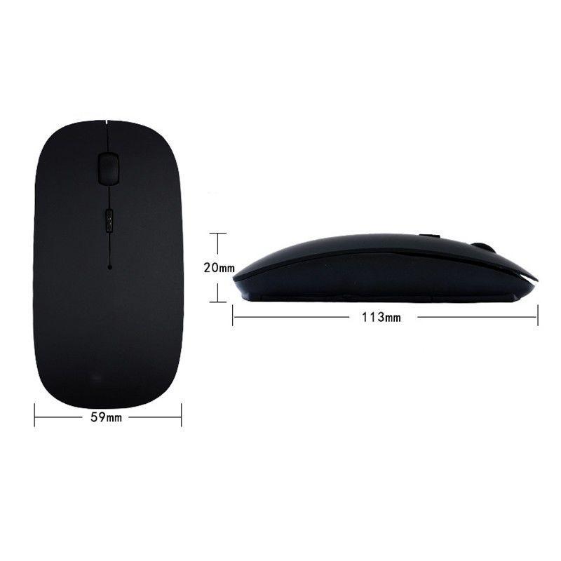 Фото 5 - Мышка оптическая беспроводная wifi Run Tong Белая/черная