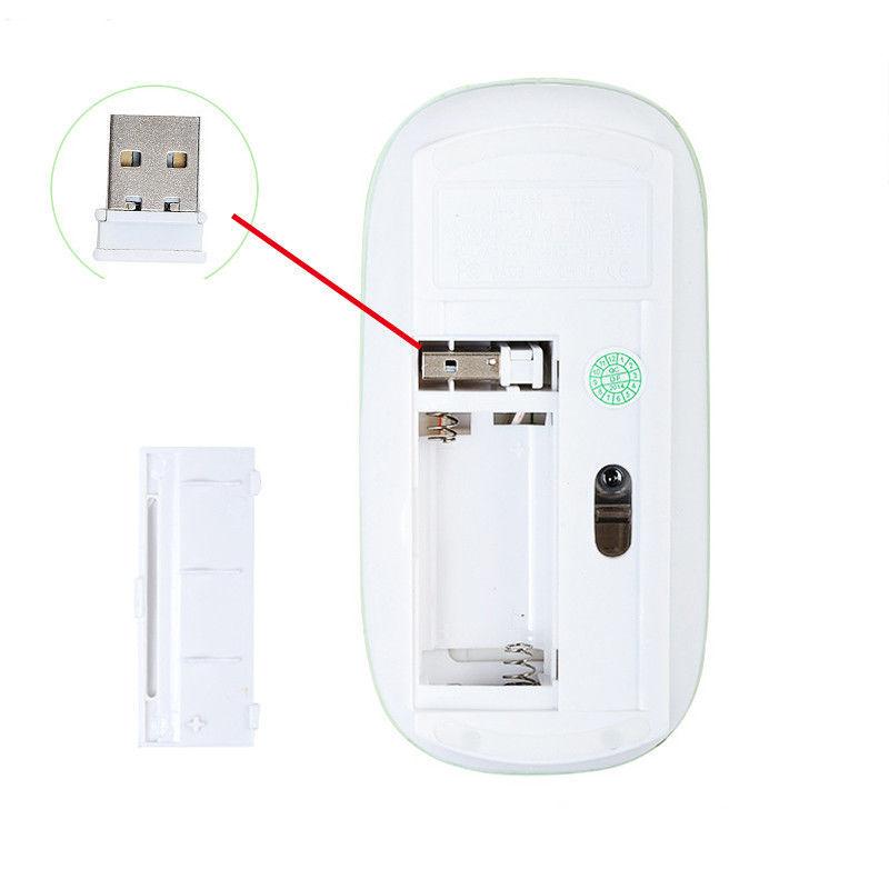 Фото 6 - Мышка оптическая беспроводная wifi Run Tong Белая/черная