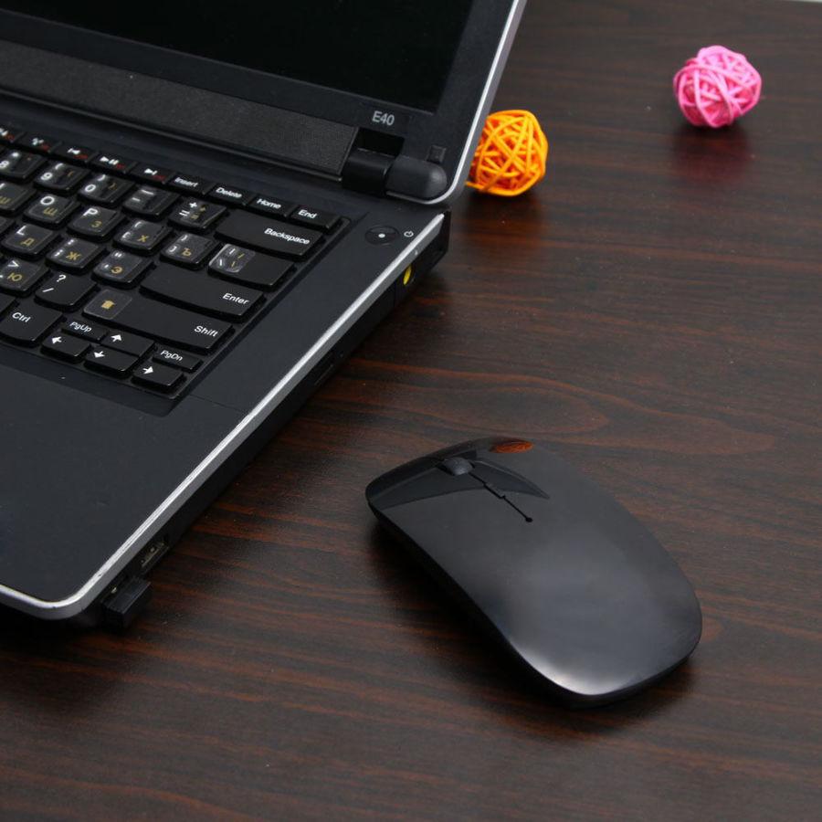 Фото 2 - Мышка оптическая беспроводная wifi Run Tong Белая/черная