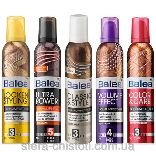 Фото - Пенка для укладки волос Balea