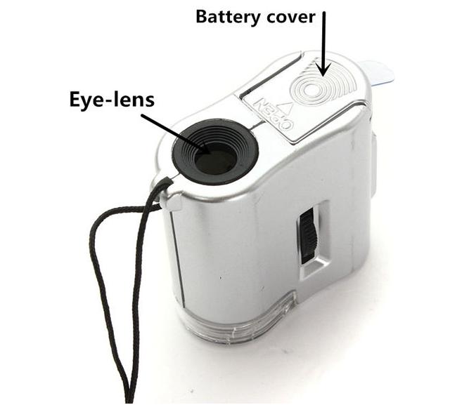 Фото 8 - Карманный 60-кратный микроскоп с подсветкой