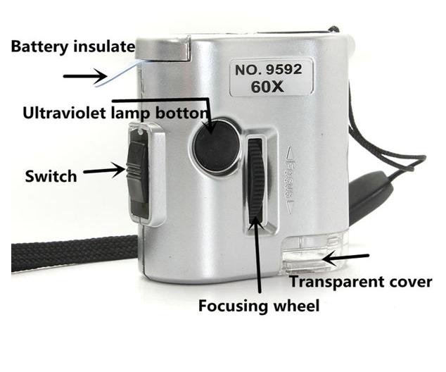 Фото 7 - Карманный 60-кратный микроскоп с подсветкой