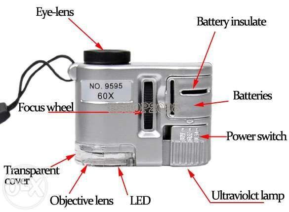 Фото 4 - Карманный 60-кратный микроскоп с подсветкой