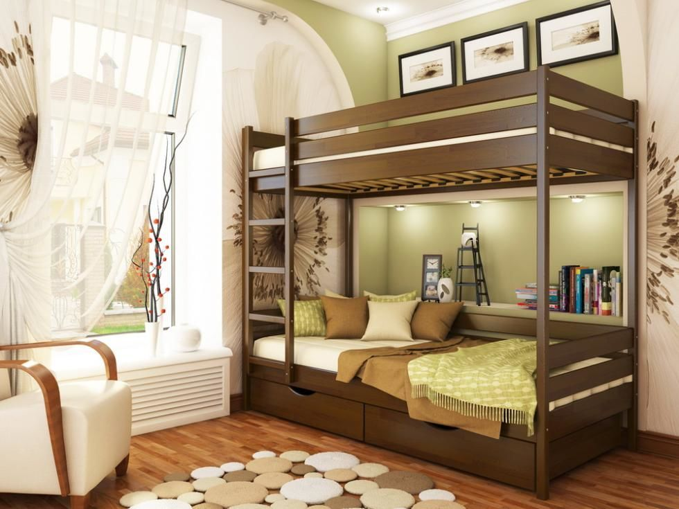 Фото 2 - Кровать двухъярусная Дуэт