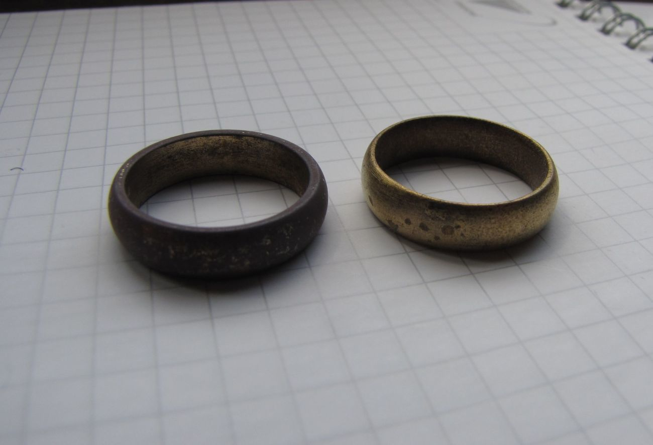 Фото - 2 царских обручальных кольца: позолота, клеймо