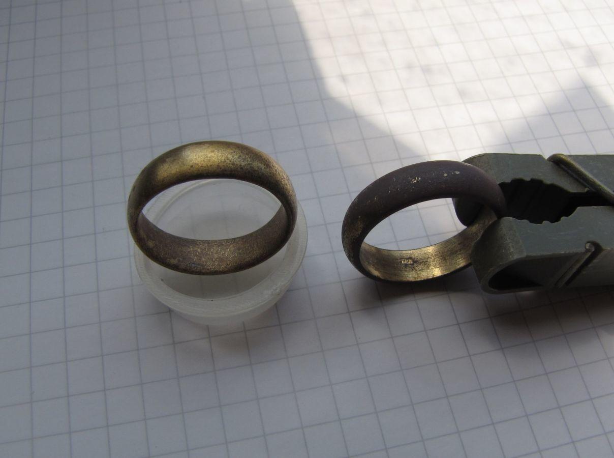 Фото 4 - 2 царских обручальных кольца: позолота, клеймо