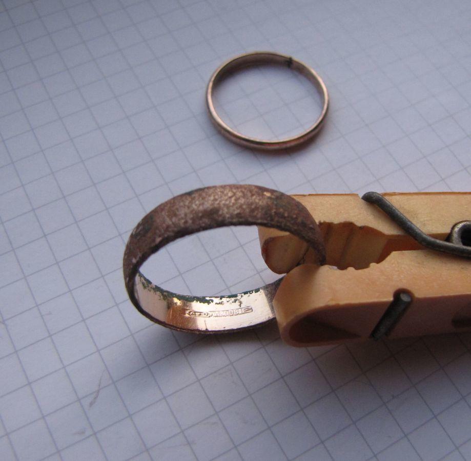 Фото 5 - Советское обручальное кольцо + бонус (другое кольцо с позолотой и к