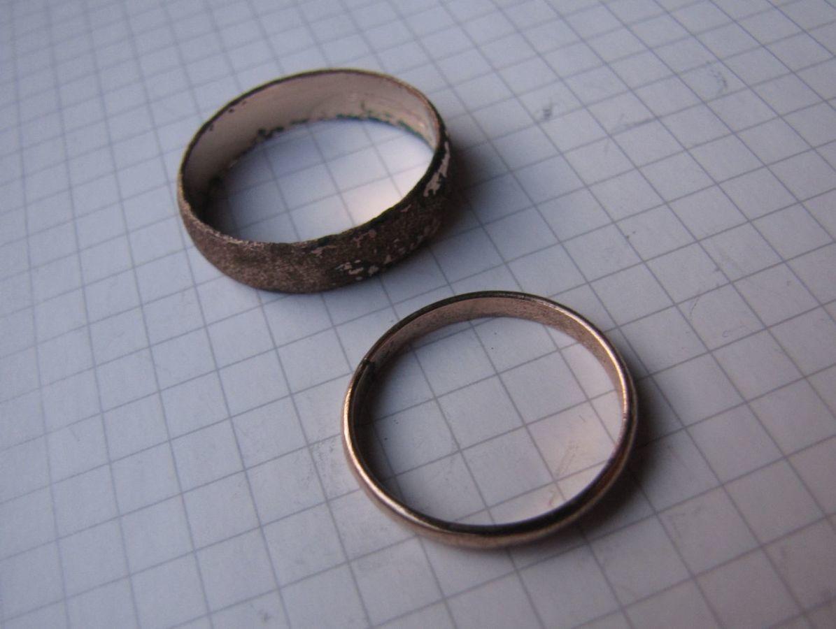 Фото 2 - Советское обручальное кольцо + бонус (другое кольцо с позолотой и к