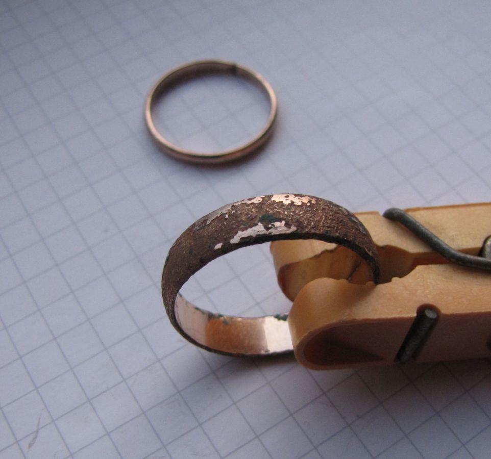 Фото 4 - Советское обручальное кольцо + бонус (другое кольцо с позолотой и к