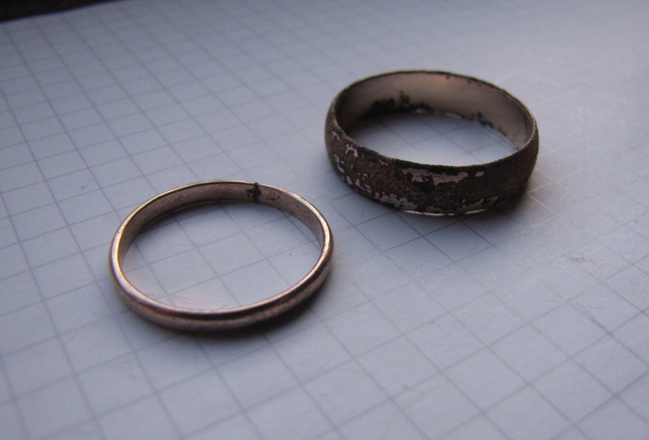 Фото - Советское обручальное кольцо + бонус (другое кольцо с позолотой и к