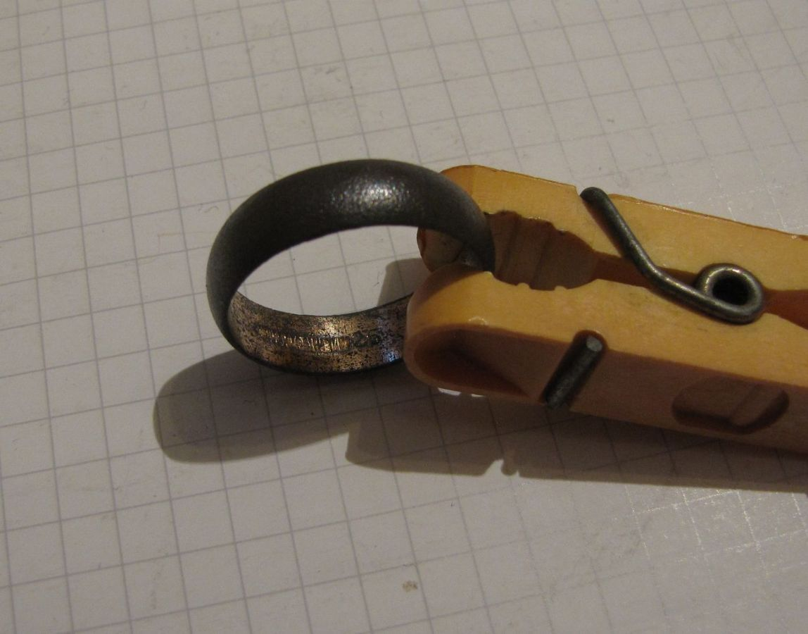 Фото 2 - Обручальное кольцо + бонус (другое кольцо с позолотой и клеймом)