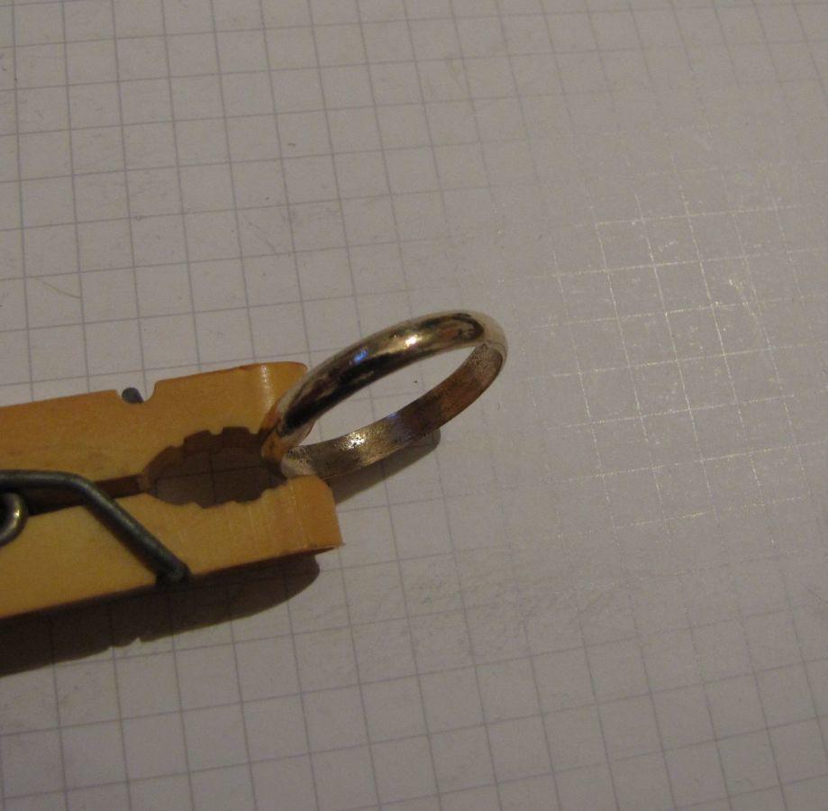 Фото 4 - Обручальное кольцо + бонус (другое кольцо с позолотой и клеймом)