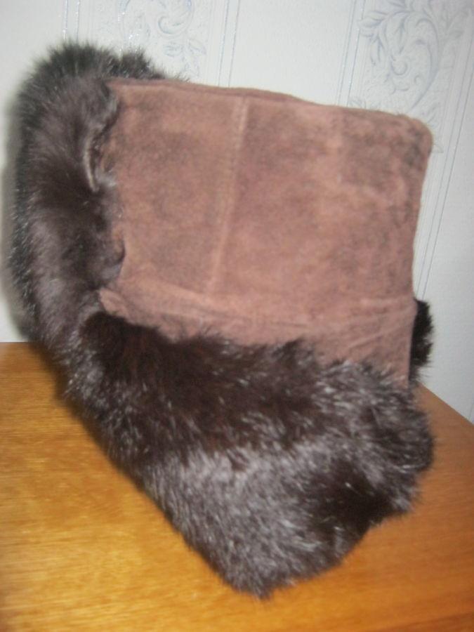 Фото 3 - Новая шапка-ушанка ( не обманка) из замши и кролика