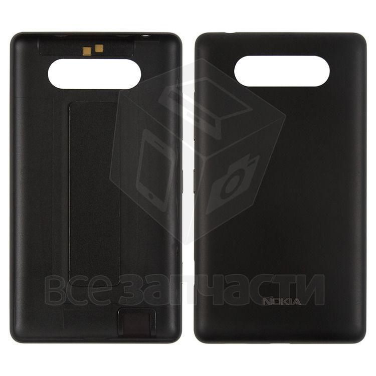 Фото - Задняя панель корпуса для Nokia 820 Lumia, черная, с боковыми кнопками