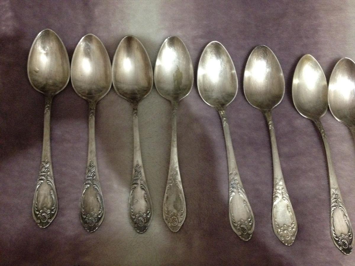 Фото 2 - Мельхиоровые вилки, ложки, столовые, десертные, ссср, мну
