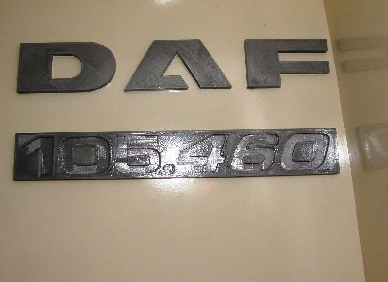 Идентификационная табличка 105.460 DAF
