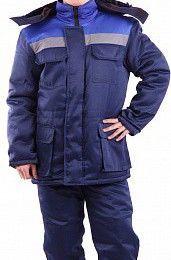 Фото - Мужской, рабочий, зимний костюм, со светоотражающими полосам