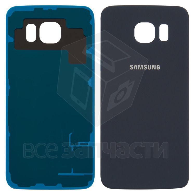 Фото - Задняя панель корпуса для Samsung G920F Galaxy S6, синяя, копия ААА