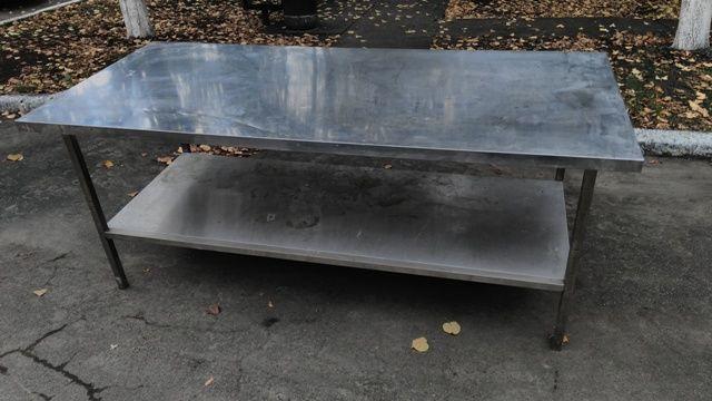 Фото 4 - Продам металлические столы из нержавеющей стали бу