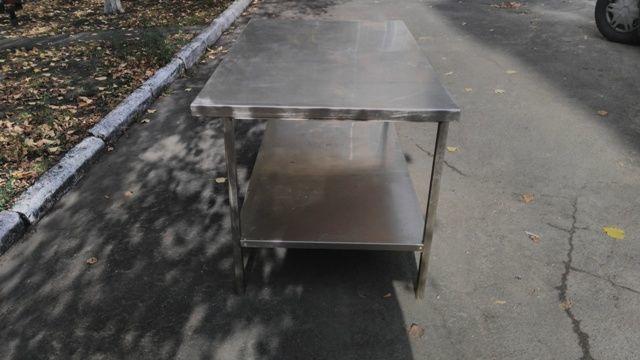 Фото 2 - Продам металлические столы из нержавеющей стали бу