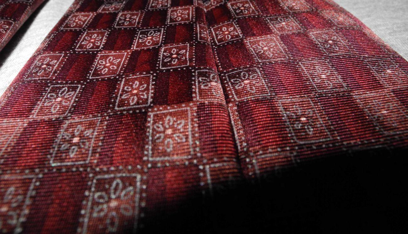 Фото 7 - Мужской галстук 100% Шелк красный бардовый Marks and Spencer Italy