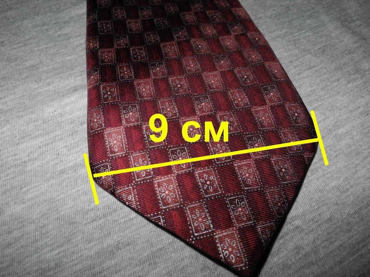 Фото - Мужской галстук 100% Шелк красный бардовый Marks and Spencer Italy