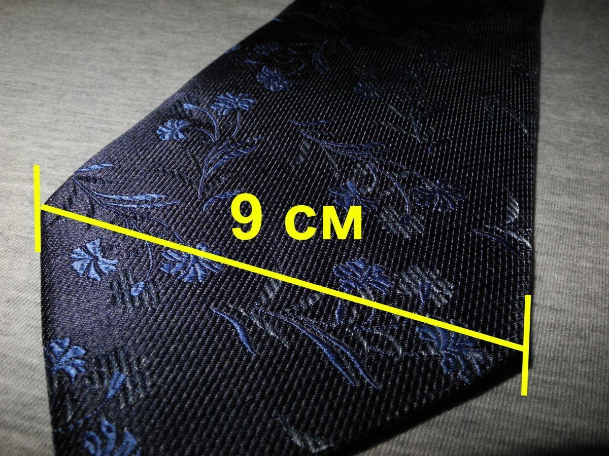 Фото - Мужской галстук 70% Шелк 30% Шерсть синий в цветочек Spain