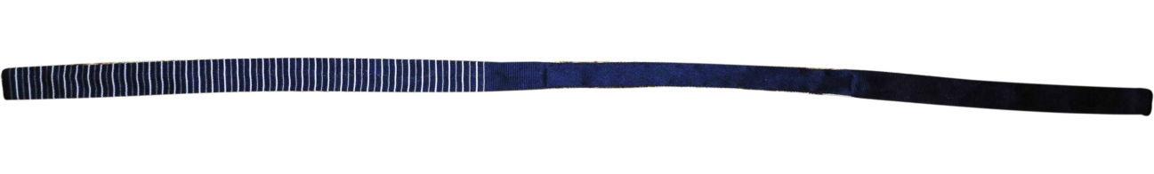 Фото 2 - Мужской галстук узкий в полоску синий Butlerandwebb